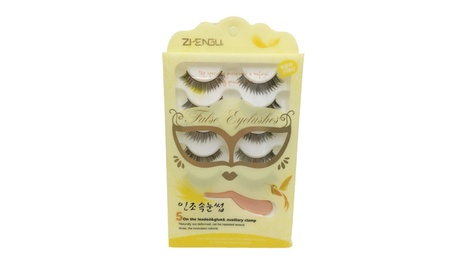 5 Pairs Handmade Long Charming False Eyelashes B7 Black 5ba37205-68f9-41d8-9d1f-186f5a6844e9