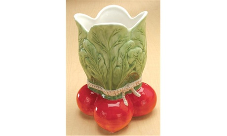 YTC SUMMIT 1311 Gorgeous Radish Vase Vegetable Ceramic photo