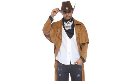 Leg Avenue Men's Faux Suede Western Coat Costume