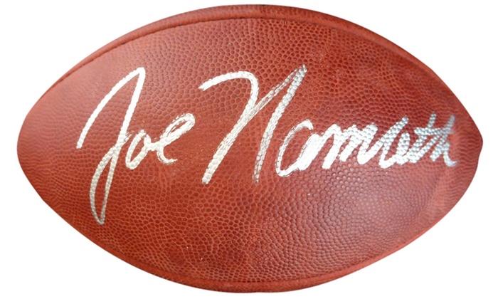 best website 42b2a 6a86f Joe Namath Autographed Official NFL Leather Football - New York Jets