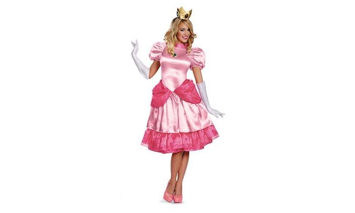 Super Mario Bros. - Deluxe Princess Peach Adult Costume