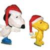 "26"" Pre-Lit Peanuts Soft Tinsel Snoopy & Woodstock Xmas Yard Art De"