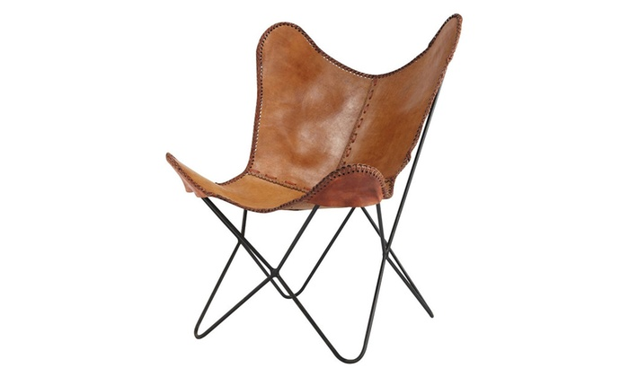 Fashion N You H 1148 Anti Brown Leather Butterfly Chair ...