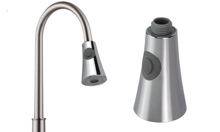 Up To 77 Off On Kitchen Sink Pull Down Faucet Groupon Goods