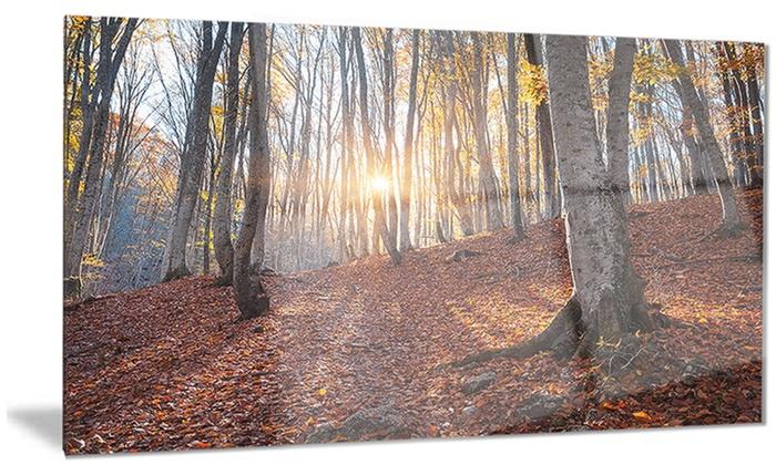 Metal Wall Art Mountain Landscapes : Crimean mountains autumn trees landscape metal wall art