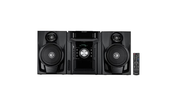 Sharp 240w 5 Disc Mini Shelf Speaker System With Cassette