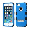 Insten Hard Hybrid Rubber Silicone Case W Stand For Iphone 5 5s Blue
