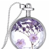 New Natural Real Decorative Dried Flowers Pendant Necklace