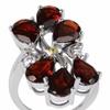 6.00 Carat Genuine Garnet,Topaz and Citrine St.silver Fashion Ring