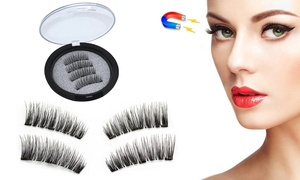 Upgraded Triple Magnetic 3D False Eyelashes Reusable No Glue