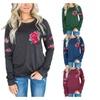Womens Casual Crewneck Floral Fashion Sweatshirt