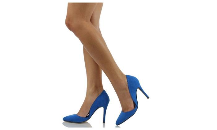 D'Orsay Vegan Suede Pointy Toe Single Sole Women's Pump