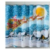 Christmas Greetings Christmas Stars Shower Curtain