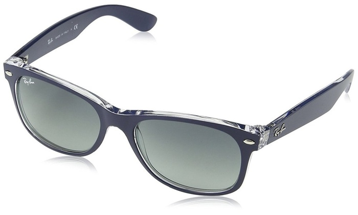 a83f25d700 Ray-Ban New Wayfarer Color Mix Blue Transparent Sunglasses - RB2132 -605371-55