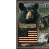 American Expedition Square Tin Art Sign - Black Bear