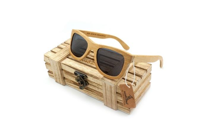 17ede96066 Natural Bamboo Wooden Sunglasses Handmade Polarized Mirror Coating ...
