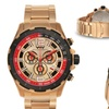 Weil And Harburg Thornton Chronograph Mens Watch Rose Gold/Red