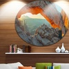 Mesa Arch Canyon lands Utah Park' Landscape Metal Circle Wall Art