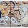 Street Art on Facade in Berlin - Street Art Metal Wall Art