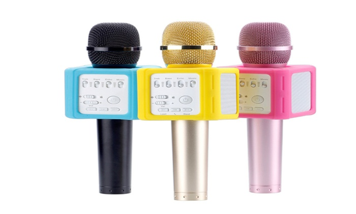 Mic Geek DSP-Q9S Portable Wireless Bluetooth Microphone with Speaker