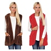 Plush Soft Long Body Fur Vest with Hoodie