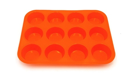 Colorful Twelve Small Round Cup Cake Mold b1bb9def-5e89-4ce8-a369-3b83498d463c