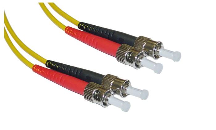 Fiber Optic Cable,ST/ST,Singlemode,Duplex,9/125,2Meter (6.6 foot)