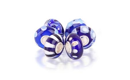 Bling Jewelry Simulated Sapphire Murano Glass Bead Set 925 Silver 40e275a4-4deb-4b59-b7c8-9fa83e6508ec