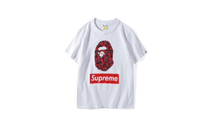 1f870b74 Supreme Bape A Bathing Ape Camo Cloud T-Shirt | Groupon