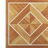 Tivoli White Border Classic Inlaid Parquet 12x12 Vinyl Tile - 45 Tiles/45 sq Ft.