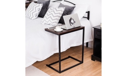 Costway 26'' Laptop Holder Sofa Side End Table C Table Home Office Furniture