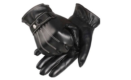 Leather Gloves Full Finger Mens Motorcycle Driving Winter Warm Touch 79f676d8-f885-497b-9bd6-45a5c996a977