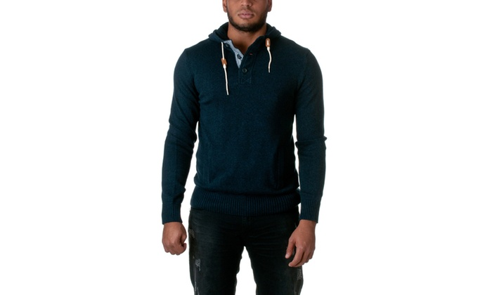 Republic Cotton Pull Over Hooded Sweater NEF04385-1