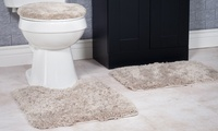 Lavish Home Super Plush Non-Slip Bath Mat Rug Set (3-Piece)