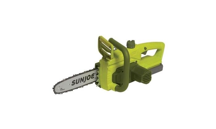 Sun Joe 20VIONLTE-CS10 Cordless Chainsaw 10 in  2 0 Amp - Green