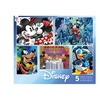 Disney 5-in-1 Jigsaw Puzzle Multi-Pack - Classic Disney: 2 x 300, 2 x 500, 1 x 7