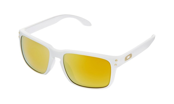 6cad3aa657 Oakley Holbrook Sunglasses With Polished White Frame And 24k Iridium Lens  White 60mm 19mm 130mm UV Plastic 24k Iridium. Discount 49%