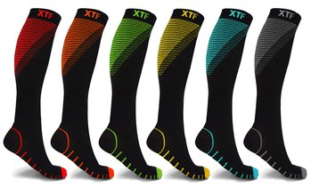 XTF Athletic Graduated Compression Socks (6-Pack)
