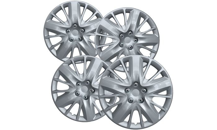 Silver Hubcaps 18 Inch For Select Chevy Impala Universal Fit Snap On