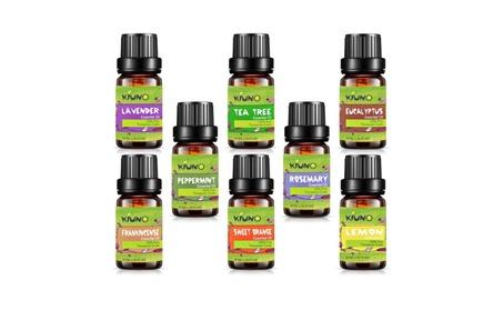 KIUNO Top 8 10ML Therapeutic Grade Aromatherapy Essential Oils Set