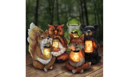 Solar Animal Lamp with Jar of LED Fireflies