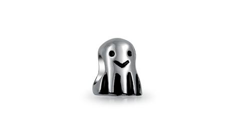 Bling Jewelry Sterling Silver Cute Ghost Charm Bead d5fe79e0-e668-413b-b539-fd6b4cbf23f7