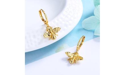 14K Gold Bee Huggie Earrings Was: $34.99 Now: $5.
