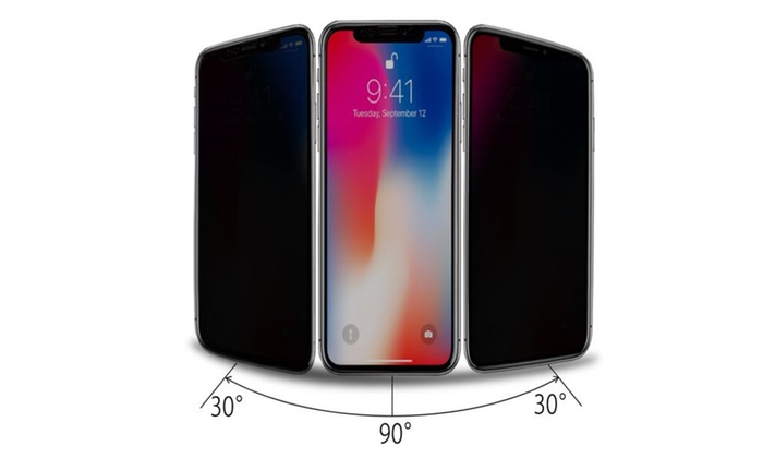 100% authentic 24df6 cfbd1 iPhone X Privacy Screen Protector - Case Friendly Real Tempered ...