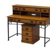 Modern Craftsman Executive Desk, Hutch and Mobile File