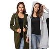 Women's Casual Zip up Hoodies Pockets Tunic Sweatshirt Long Hoodie Out