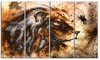 Lion Collage Animal Metal Wall Art 48x28 4 Panels