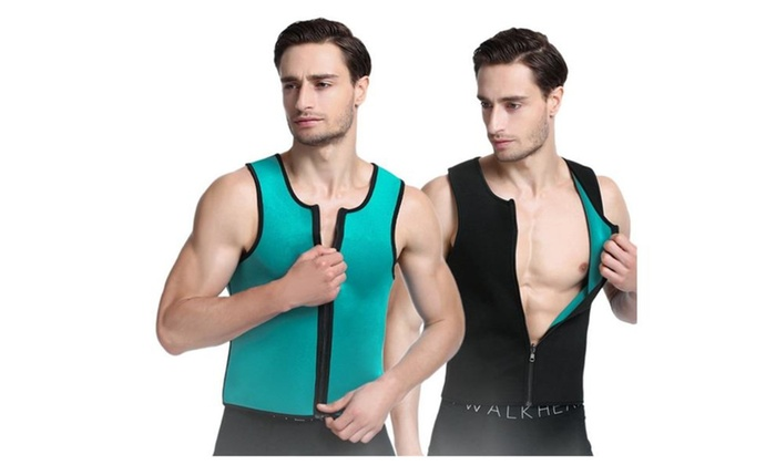 Mens Weight Loss Shapewear Slimming Vest Sweat Sauna Suits