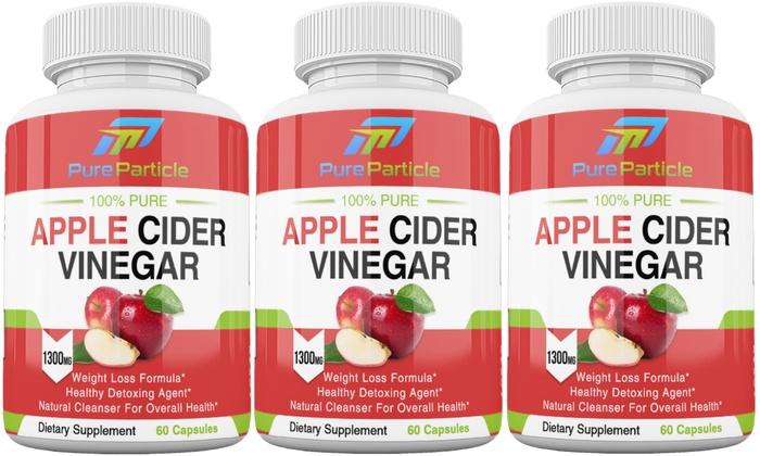 Apple Cider Vinegar Pills Weight Loss Detox Set 3 Bottles 180 Caps