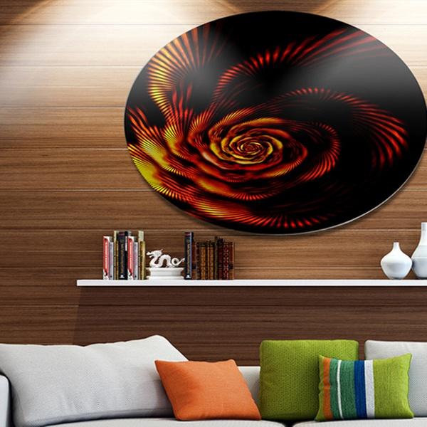 Up To 7 Off On Fiery Rose Fractal Flower Of Groupon Goods